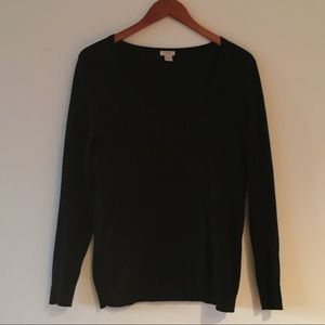 J.Crew Black vneck sweater